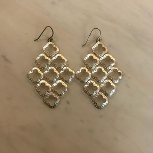 Stella & Dot retired silver earrings